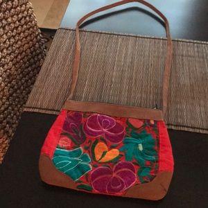 MEXICAN FLORAL SHOULDER BAG